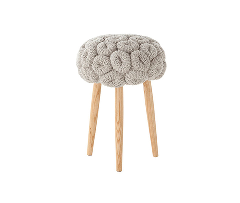 Табурет, модель «KNITTED STOOL GREY»