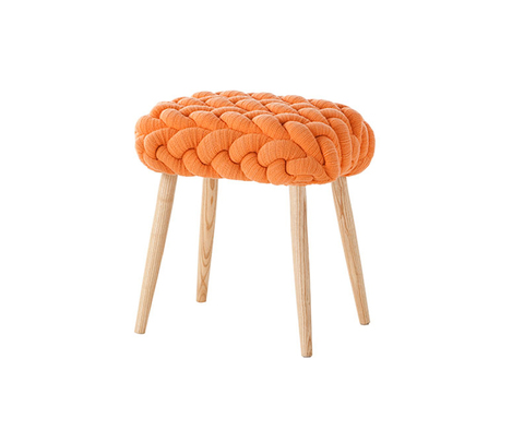 Табурет, модель «KNITTED STOOL ORANGE»