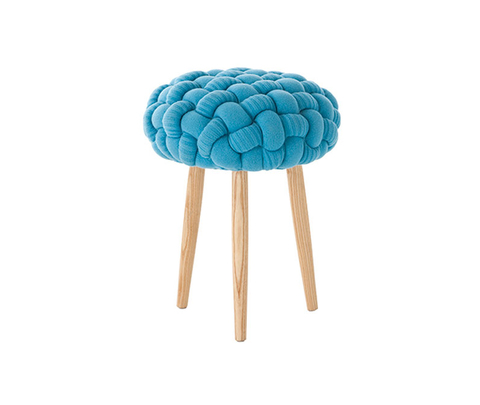 Табурет, модель «KNITTED STOOL BLUE»