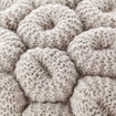 KNITTED STOOL GREY 3