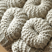 KNITTED STOOL GREY 5